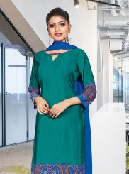 Sea Green Casual Churidar Suit
