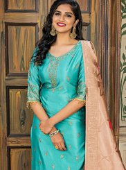 Sea Green Ceremonial Designer Pakistani Salwar Suit