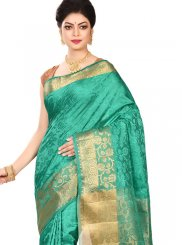 Sea Green Ceremonial Traditional Designer Saree