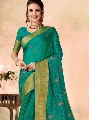 Sea Green Ceremonial Traditional Saree