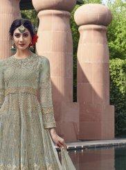 Sea Green Color Anarkali Salwar Kameez
