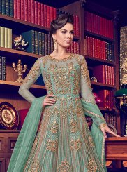 Sea Green Color Anarkali Suit