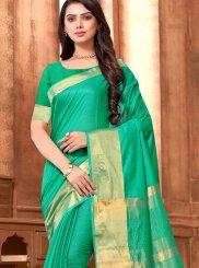Sea Green Color Classic Designer Saree