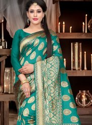 Sea Green Color Designer Traditional Saree