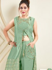 Sea Green Color Readymade Suit