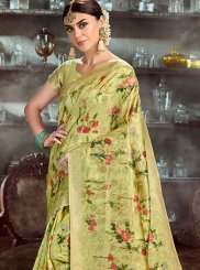 Sea Green Color Traditional Saree
