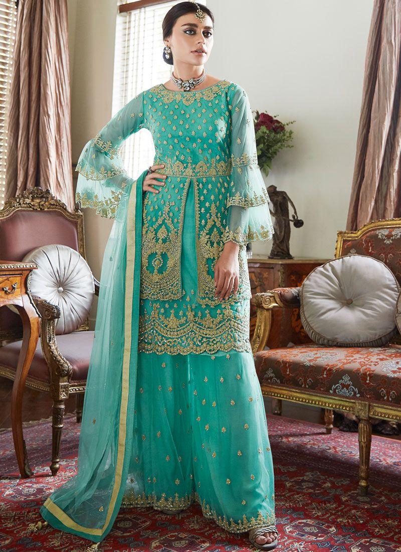 Sea Green Designer Pakistani Suit
