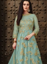 Sea Green Embroidered Anarkali Salwar Kameez