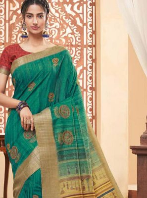 Sea Green Fancy Fabric Classic Saree