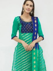 Sea Green Fancy Jacquard Designer Suit