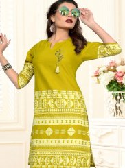 Sea Green Festival Casual Kurti