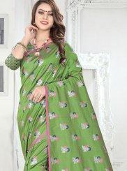 Sea Green Festival Silk Saree