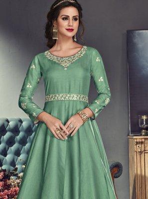 Sea Green Floor Length Anarkali Suit