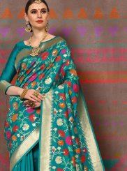 Sea Green Handloom silk Traditional Designer Saree