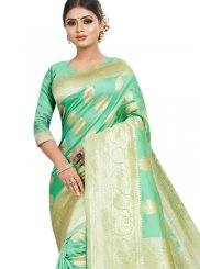 Sea Green Jacquard Silk Classic Saree