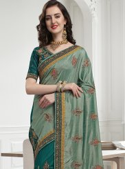 Sea Green Lace Bridal Traditional Designer Saree