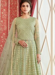 Sea Green Net Party Trendy Lehenga Choli