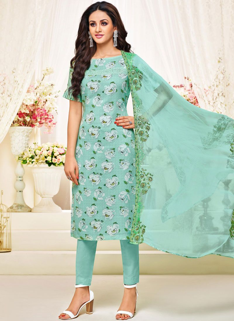 Sea Green Pant Style Suit