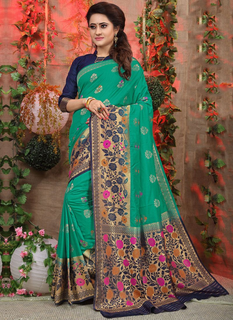 Sea Green Party Designer Traditional Saree