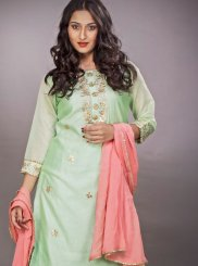 Sea Green Readymade Suit