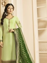Sea Green Reception Churidar Suit