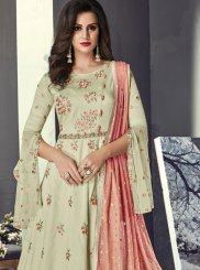 Sea Green Resham Reception Floor Length Anarkali Suit