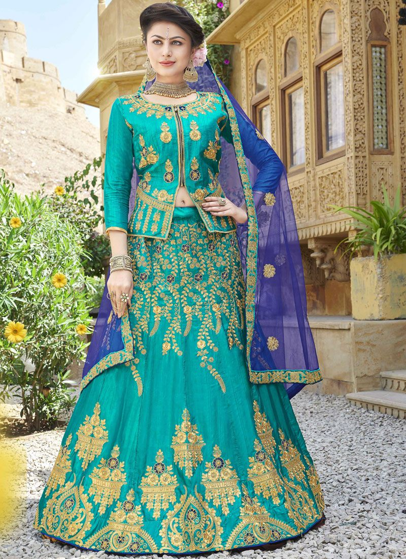 Sea Green Sangeet Trendy Lehenga Choli