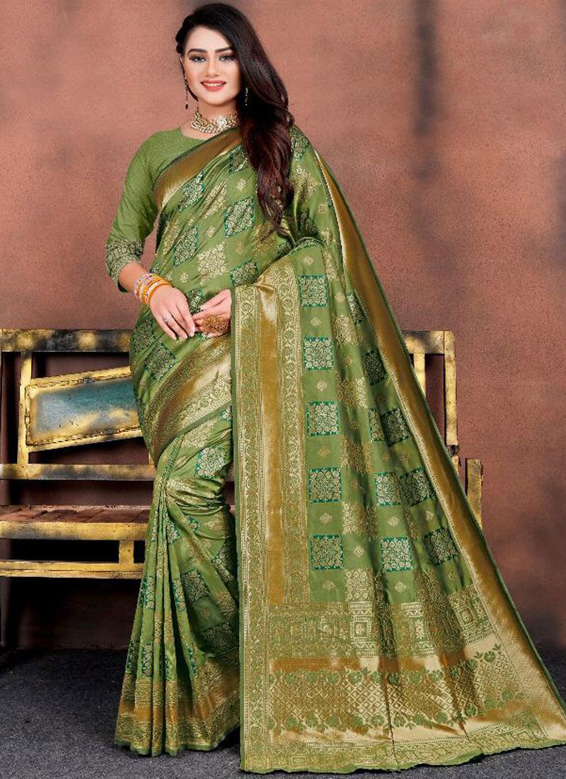 Sea Green Silk Festival Silk Saree