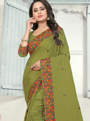 Sea Green Silk Party Designer Traditional Saree