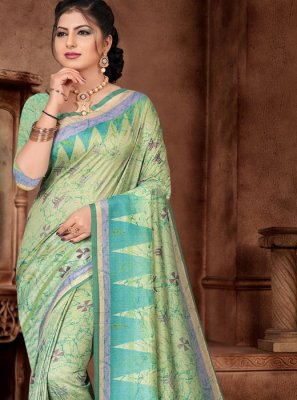 Sea Green Silk Trendy Saree