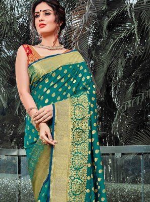 Sea Green Traditional Saree
