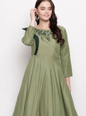 Sea Green Viscose Casual Kurti