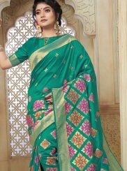 Sea Green Weaving Art Silk Designer Traditional Saree