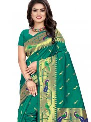 Sea Green Weaving Designer Traditional Saree