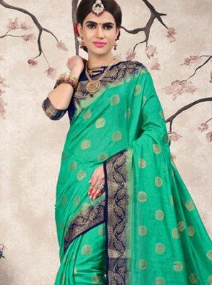 Sea Green Weaving Festival Classic Saree