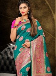 Sea Green Weaving Traditional Designer Saree