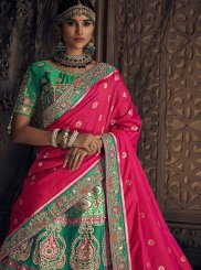 Sea Green Wedding Art Silk Lehenga Choli