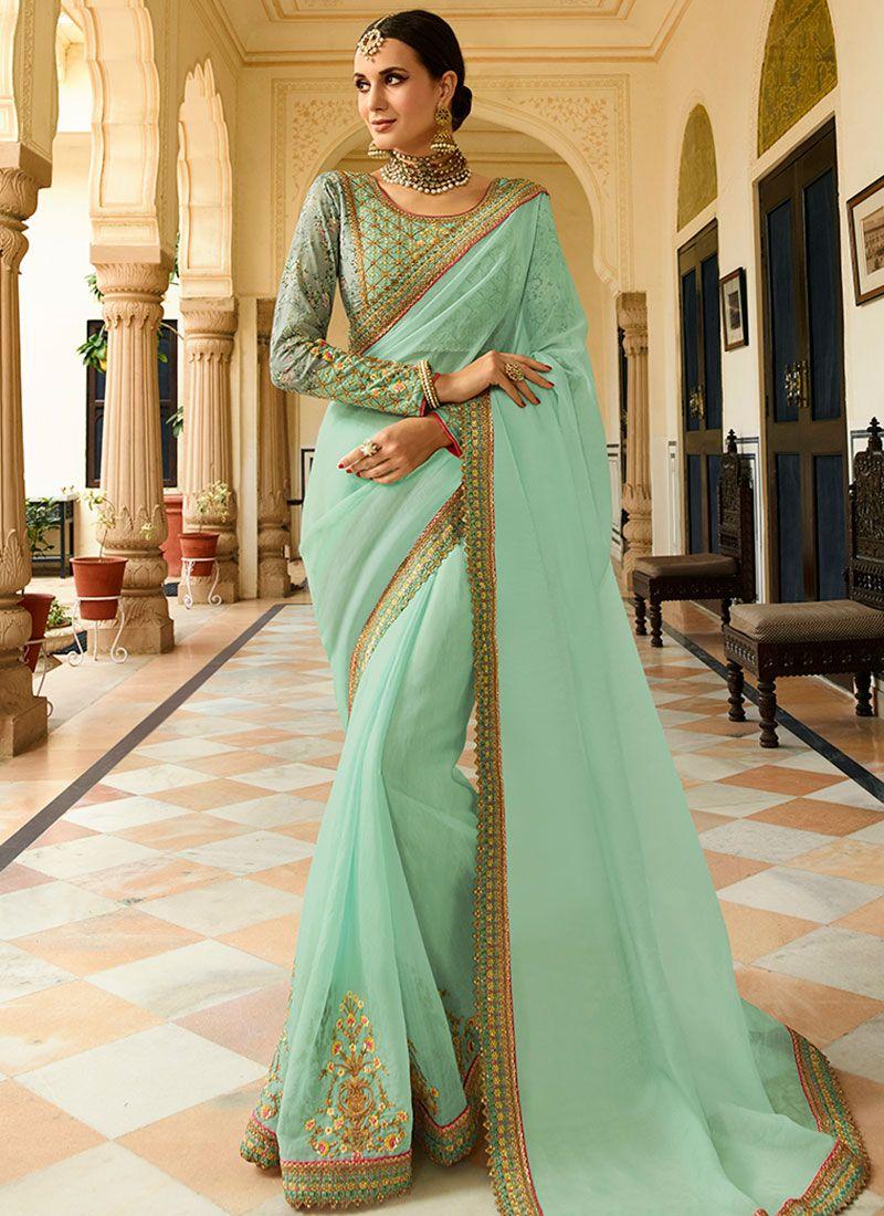 Sea Green Wedding Classic Saree