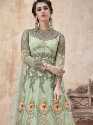 Sea Green Wedding Net Floor Length Anarkali Suit