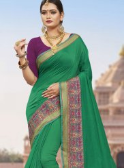 Sea Green Woven Festival Designer Traditional Saree