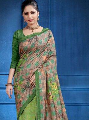 Sea Green Woven Tussar Silk Classic Saree