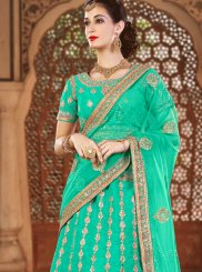Sea Green Zari Work Lehenga Choli