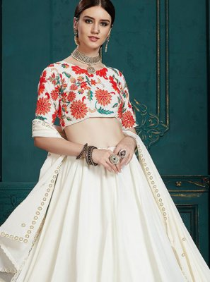 Sequins Faux Georgette Trendy A Line Lehenga Choli