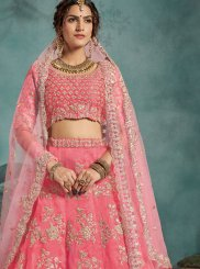 Sequins Pink Trendy Designer Lehenga Choli