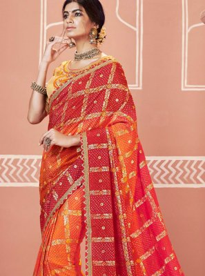 Shaded Saree For Ceremonial