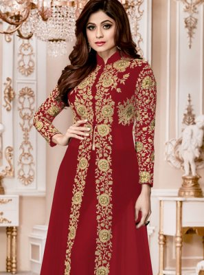 Shamita Shetty Faux Georgette Designer Suit