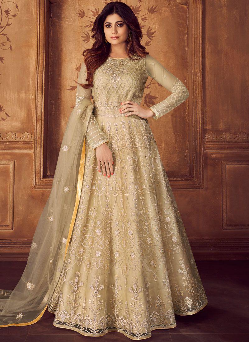 Shamita Shetty Floor Length Anarkali Suit For Ceremonial