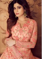 Shamita Shetty Floor Length Anarkali Suit For Wedding