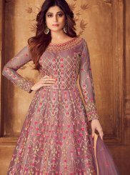 Shamita Shetty Net Festival Floor Length Anarkali Suit