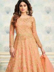 Shamita Shetty Precious Peach Trendy Lehenga Choli